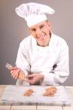 bakelse för kockchokladmaräng Royaltyfri Bild