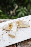 Bakelse för Pasteis de tentugal traditionell portugisisk äggkräm Arkivfoto