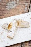 Bakelse för Pasteis de tentugal traditionell portugisisk äggkräm Arkivfoton