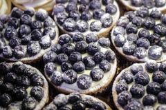 Bakelse med blåbäret Arkivbilder