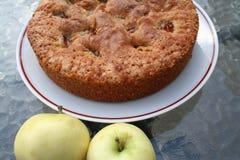 Bakelse med det svenska äpplet och kanel Royaltyfri Fotografi