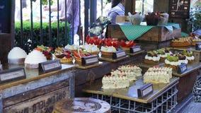 Bakelseefterrättmarknad på Australien den traditionella marknaden Fotografering för Bildbyråer