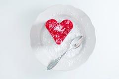 Bakelsehjärta med gelé Fotografering för Bildbyråer