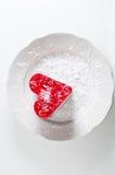 Bakelsehjärta med gelé Arkivfoto