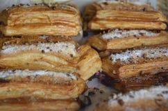 Bakelser på ett mexicanskt bageri arkivbilder