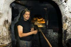 Baker à Fez la Médina Photographie stock