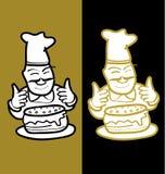 Baker και κέικ ελεύθερη απεικόνιση δικαιώματος