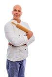 Baker με την κυλώντας καρφίτσα Στοκ Εικόνες