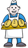Baker. With Bread Royalty Free Stock Image