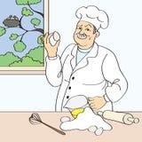 Baker illustration stock