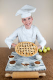 Baker Apple Pie Royalty Free Stock Photography