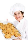 Baker avec des biscuits Photos libres de droits