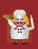 Baker avec du pain et l'illustration de goupille Image stock