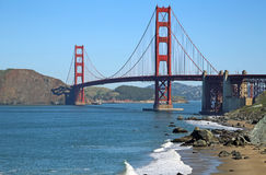 Baker Beach and Golden Gate Bridge Stock Image