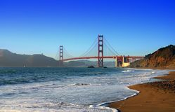 Baker Beach, San Francisco image libre de droits
