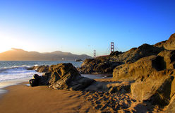 Baker Beach, San Francisco royalty free stock images