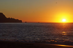 Baker beach, san francisco, at sunset time Stock Photography