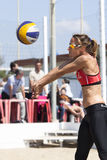 Baker. Beach Volleyball Tournament women. Location: Ostia, Rome. Italy Stock Photos