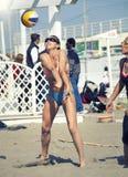 Baker. Beach Volleyball Tournament women. Location: Ostia, Rome. Italy Stock Image
