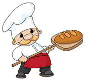 Baker with bread royalty free stock image