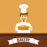 Baker And Bread Design Photo libre de droits