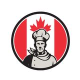Baker canadien Canada Flag Icon de chef Photographie stock