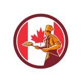 Baker canadien Canada Flag Icon de pizza Photos stock
