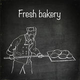 Baker character illustration Royalty Free Stock Photos