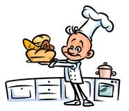 Baker chef  cook cartoon illustration Royalty Free Stock Images