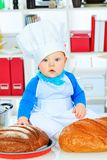 Baker child Royalty Free Stock Photos