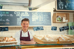 Baker at the counter Royalty Free Stock Images