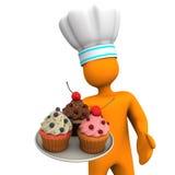 Baker Cupcakes Stock Photography