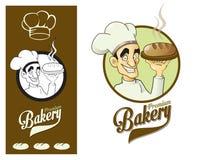 Baker d'élément de conception de logo Illustration Stock