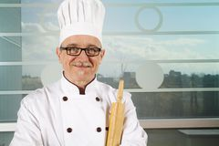 Baker with hat Stock Image
