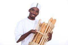 Baker het glimlachen stock afbeeldingen