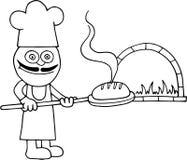 Baker Holding Bread illustration libre de droits