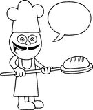 Baker Holding Bread illustration de vecteur