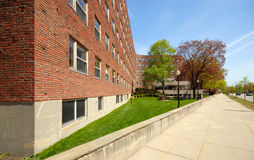 Baker House. College dormitory designed by Finnish architect Alvar Aalto at MIT, Cambridge, MA Royalty Free Stock Image