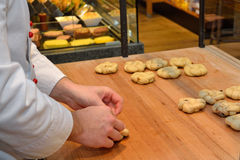 Baker made yeast dough pastries Stock Image