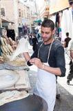 Baker making the bread ,Bethlehem Stock Image