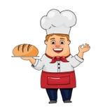 Baker met brood Stock Afbeeldingen