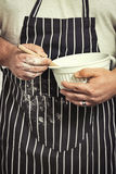 Baker With Mixing Bowl Royalty Free Stock Photo