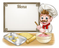 Baker or Pastry Chef Menu Sign Royalty Free Stock Photos