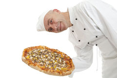 Baker of pizza Royalty Free Stock Photography