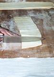 Baker preparing chocolate croissant. In bakery workshop Stock Images