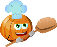 Baker pumpkin baking bread Royalty Free Stock Photos