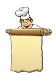 Baker with rolling pin and dough Stock Photo