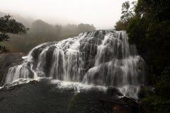 Baker`s Falls at Horten Plains National Park, Sri Lanka. The Baker`s Falls at Horten Plains National Park, Sri Lanka Stock Photography