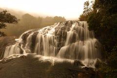Baker`s Falls at Horten Plains National Park, Sri Lanka. The Baker`s Falls at Horten Plains National Park, Sri Lanka Stock Photos