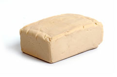 Baker's yeast isolated on white Stock Image